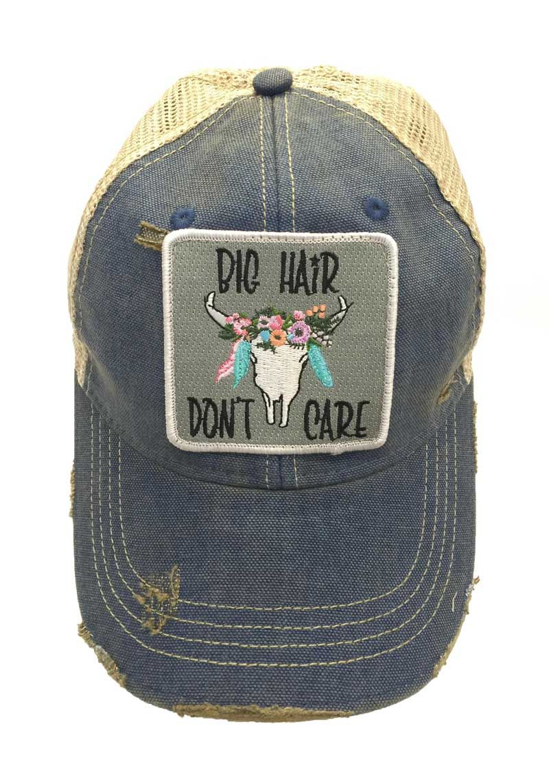 f4b7a5a6714 Judith March Big Hair Don t Care Trucker Hat 930H-64