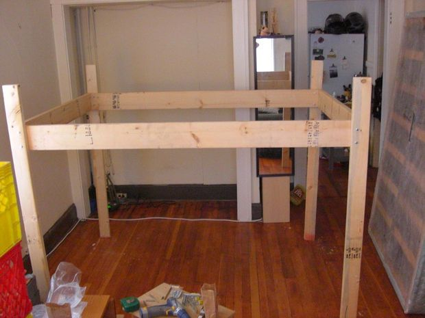 Elevated Bed With Images Elevated Bed Frame Loft Bed Plans