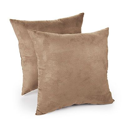 Faux Suede Tan Decorative Pillows 40Pack At Big Lots Apartment New Big Lots Decorative Pillows
