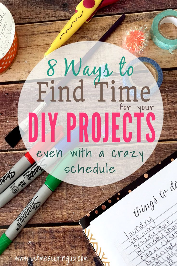 How to Find Time for Side Projects and DIYs