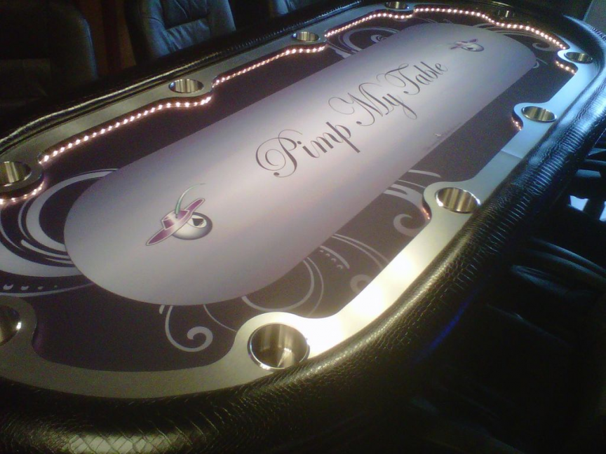 Attractive CUSTOM POKER TABLE SUITED Step On It CLOTH/ FELT/ LAYOUTS /GAMING SUEDE