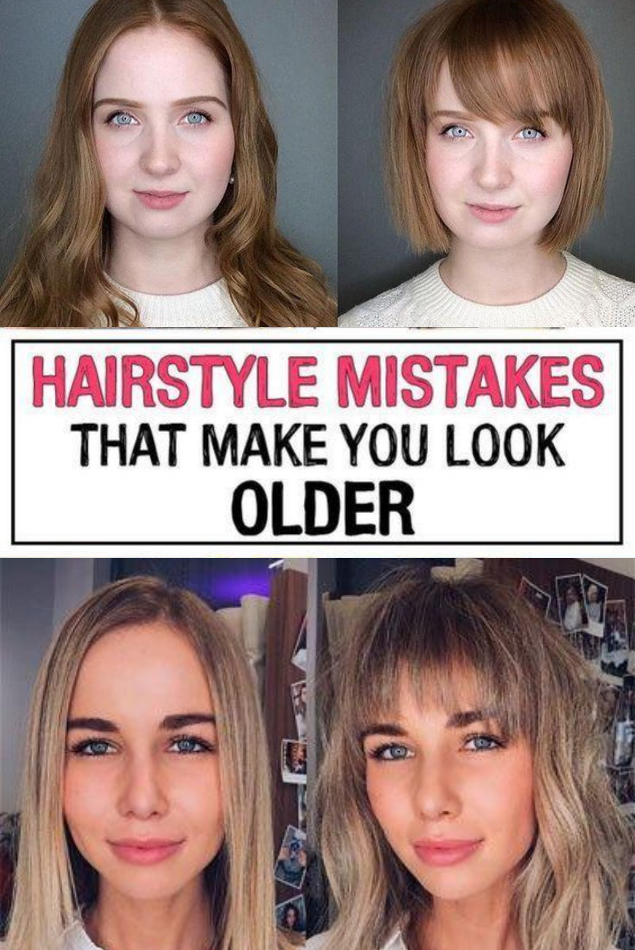 37 Hairstyle Mistakes That Are Aging You In 2020 Hairstyle Hair Advice Hair Mistakes