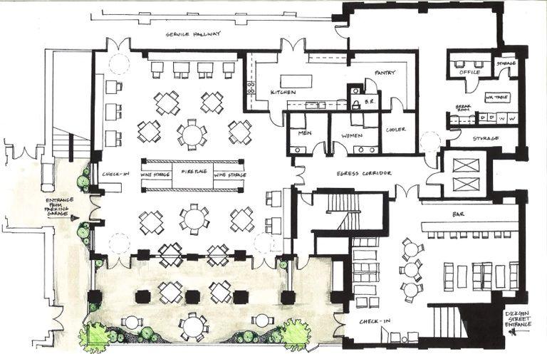 Restaurant Kitchen Layout Autocad restaurants plan   floor plans   pinterest   restaurant, app and