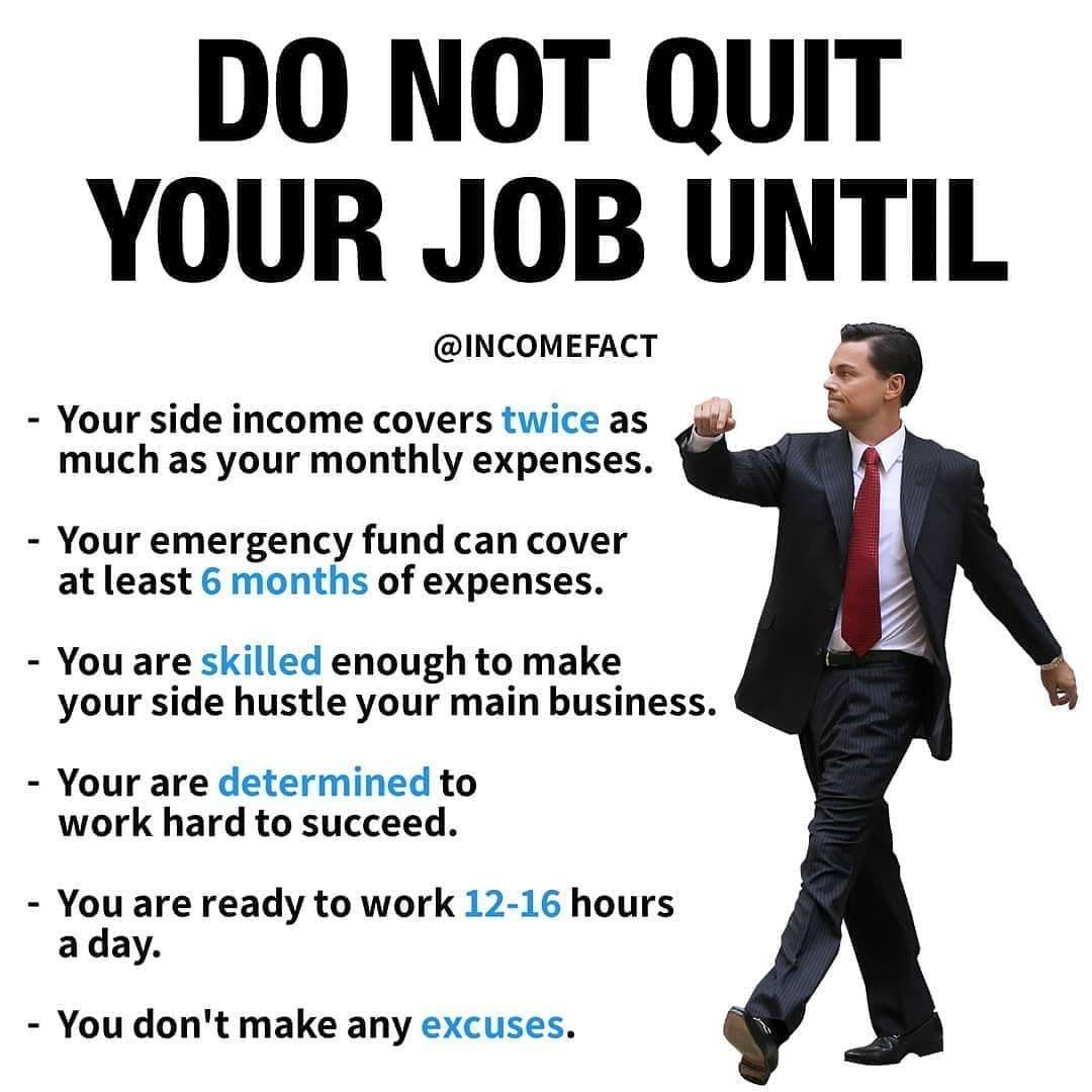 DO NOT QUIT YOUR JOB UNTIL! INVESTING FOR BEGINNER