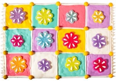 Make a baby shower extra-special with one of these beautiful (but super easy!) cakes. baby blanket.