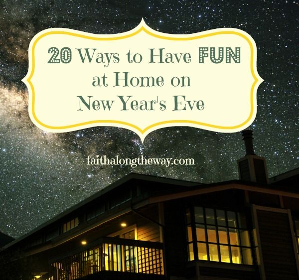 20 Ways to Have FUN at Home on New Year\'s Eve | Creative, Ring and ...