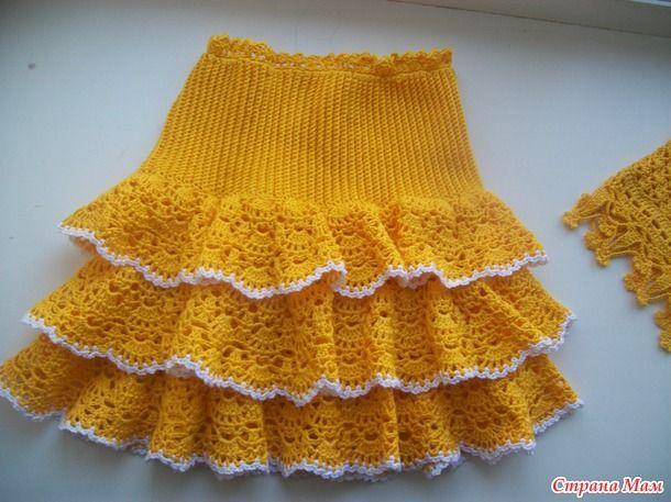 8d7c182c00d Комплект для дочки Топик и Юбочка - Вязание для детей - Страна Мам