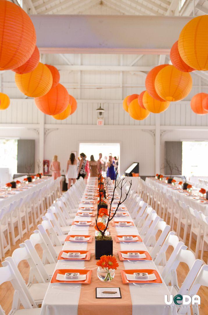 orange and white wedding decor chinese lamps wedding photographers