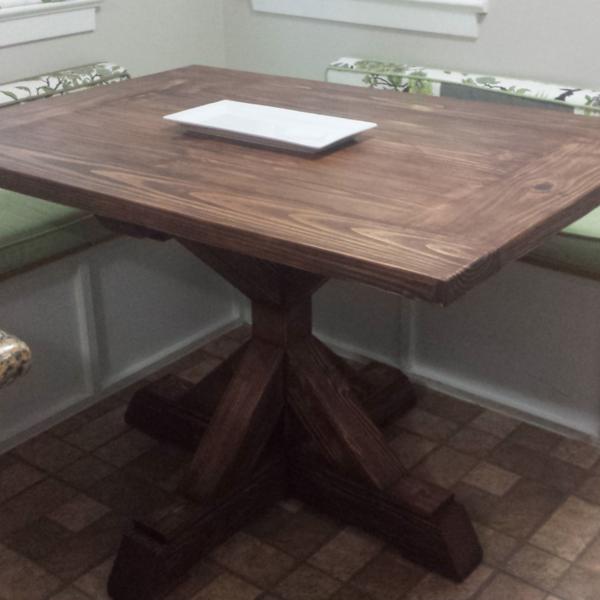 Ryobi Nation Rectangle Pedestal Table Diy Kitchen Table Pedestal Kitchen Table Breakfast Nook Table