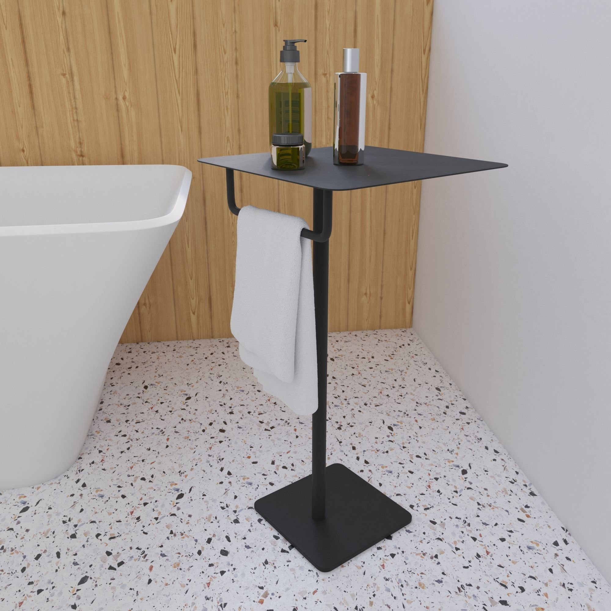 Black Bath Stand Shelf Small Bathroom Table Soak Com Bathroom Table Small Bathroom Table Amazing Bathrooms