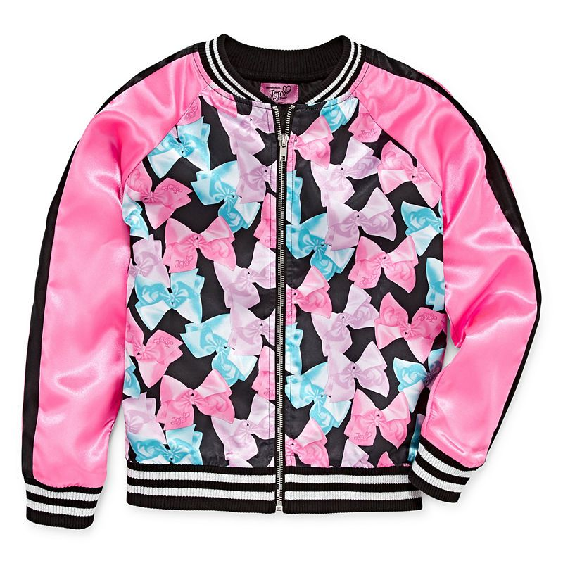 431e5ae0742273 Jojo Siwa Girls Lightweight Bomber Jacket