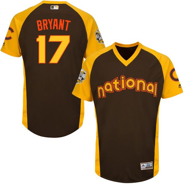 ef8cffafb This Majestic Kris Bryant Chicago Cubs MLB All-Star Game Cool Base Batting  Practice player jersey ...
