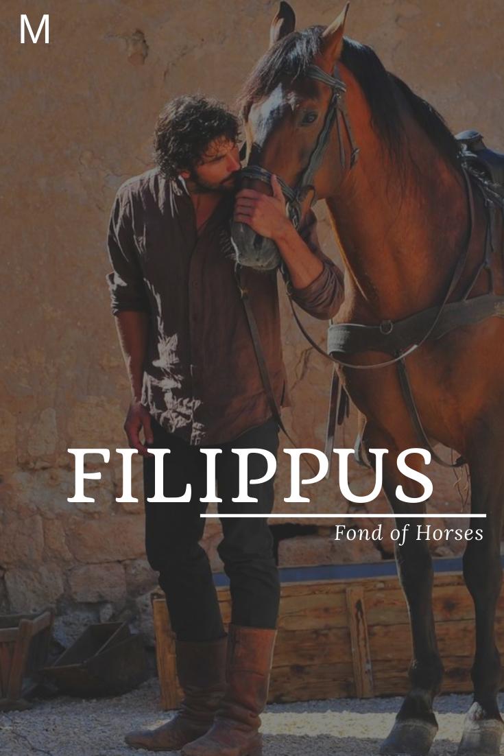 Filippus meaning Fond of Horses #baby namen französisch #baby namen meisje unie...