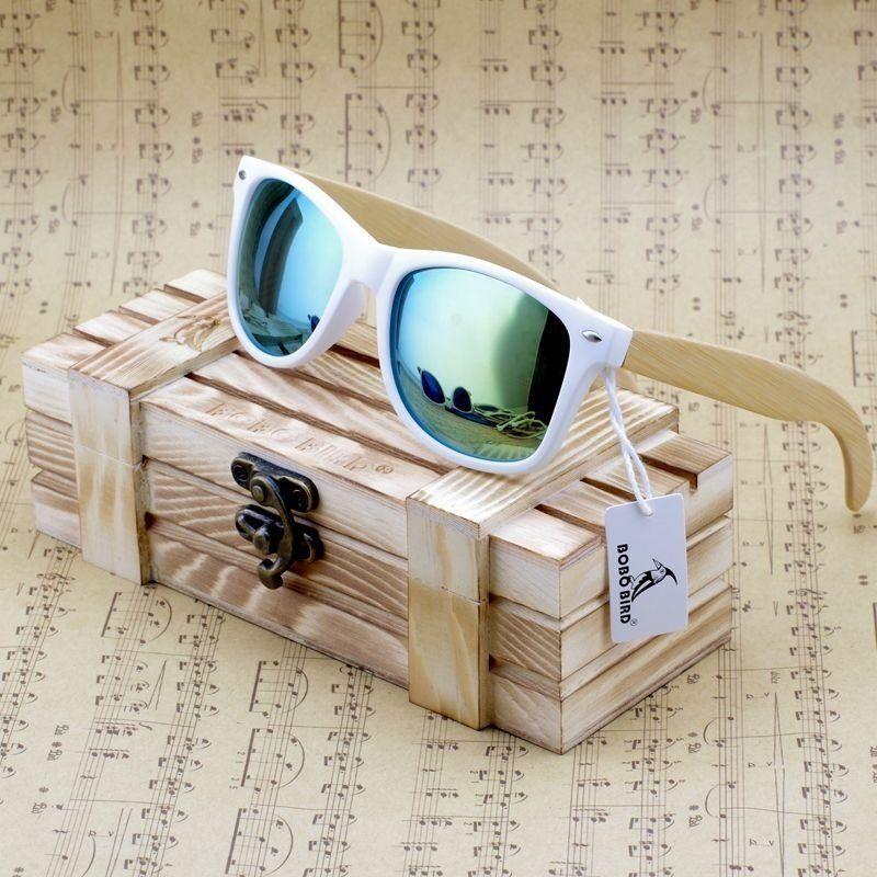3290c7c9f5235 Óculos de sol de praia feminino, de madeira de bambu.   Óculos ...