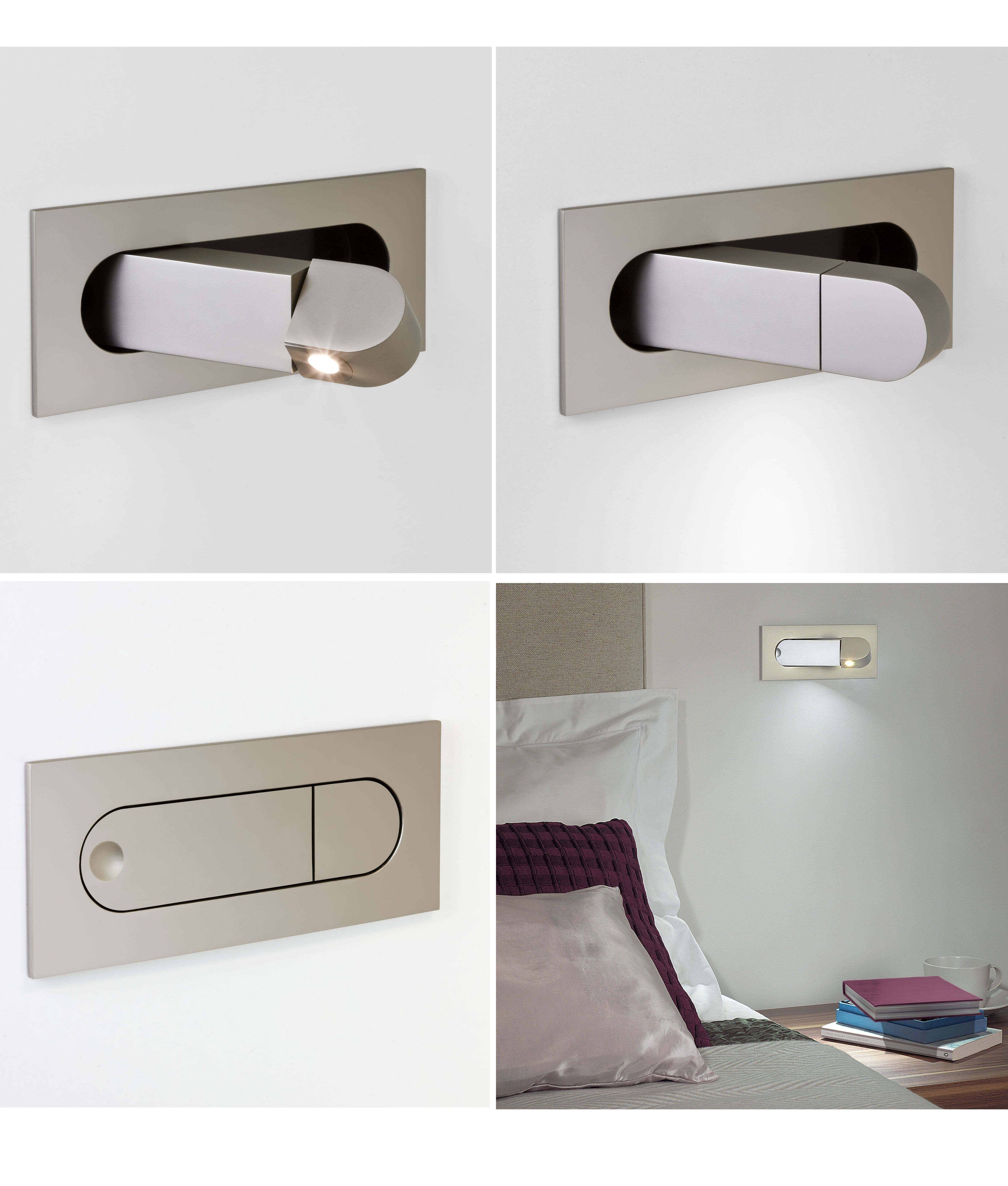 Flush Pull Out Led Bedside Reading Light 3 Finishes In 2020
