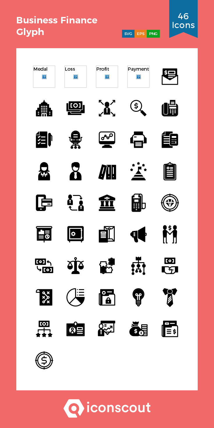 Download Business Finance Glyph Icon Pack Available In Svg Png Eps Ai Icon Fonts Business Finance Glyphs Glyph Icon