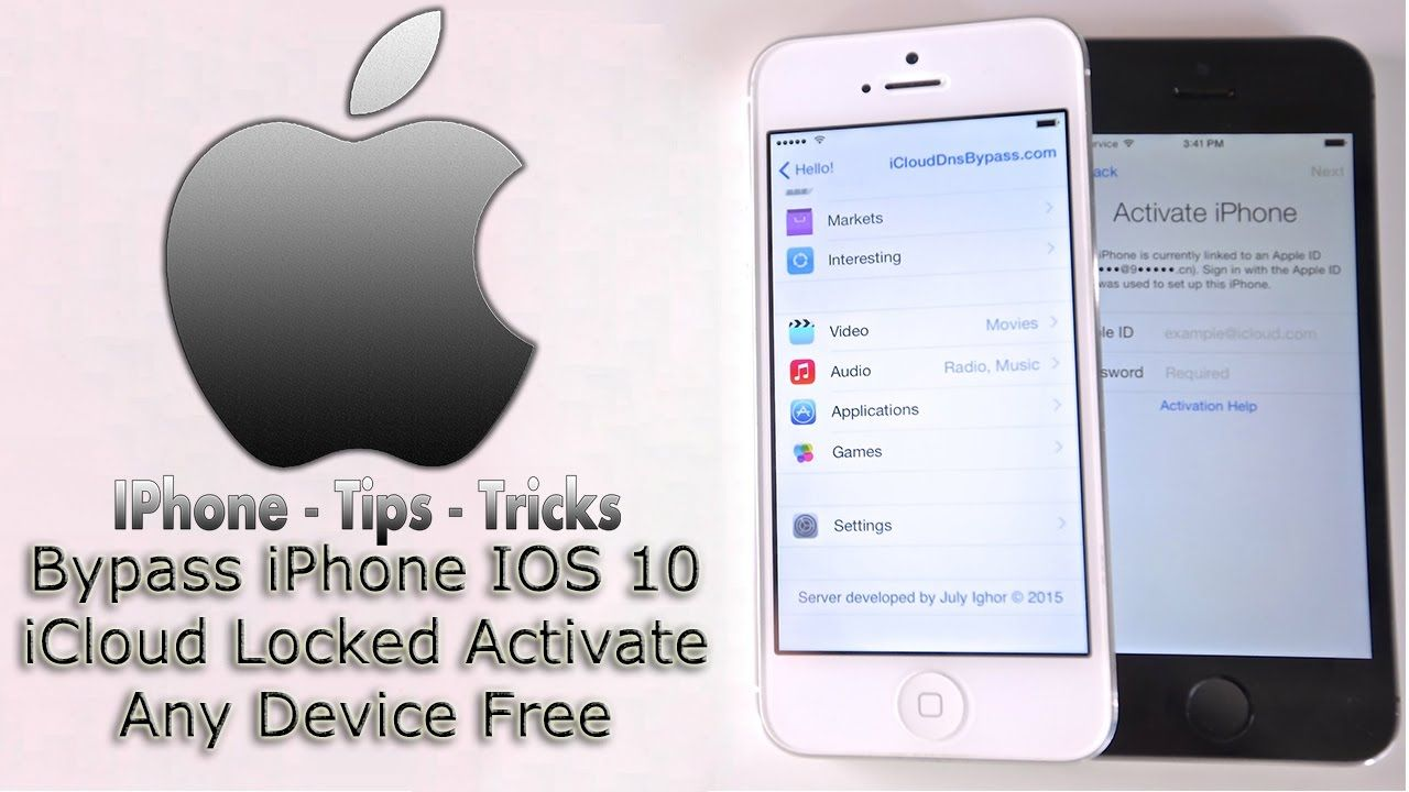 Bypass iphone ios 10 icloud locked activate any device
