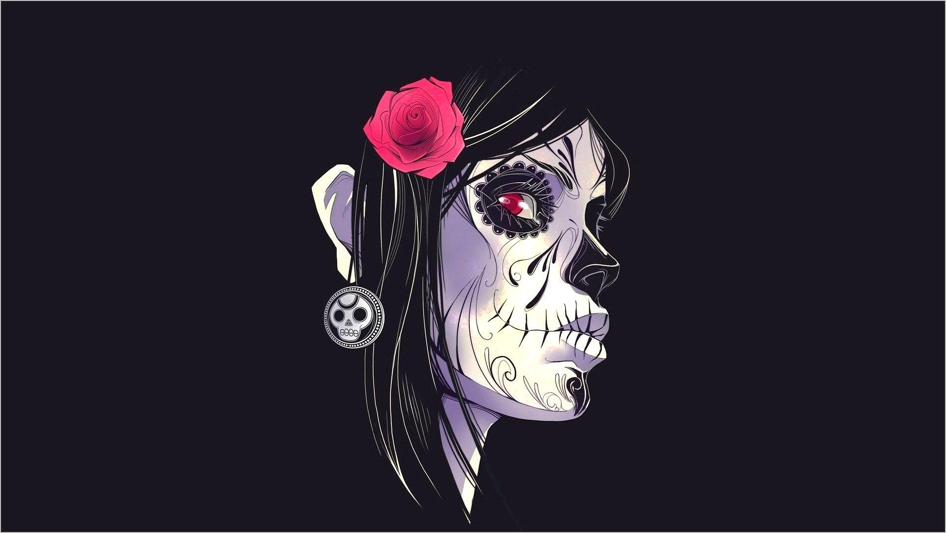 Best Sugar Skull Wallpaper 4k In 2020 Skull Wallpaper Sugar Skull Wallpaper Skull Illustration