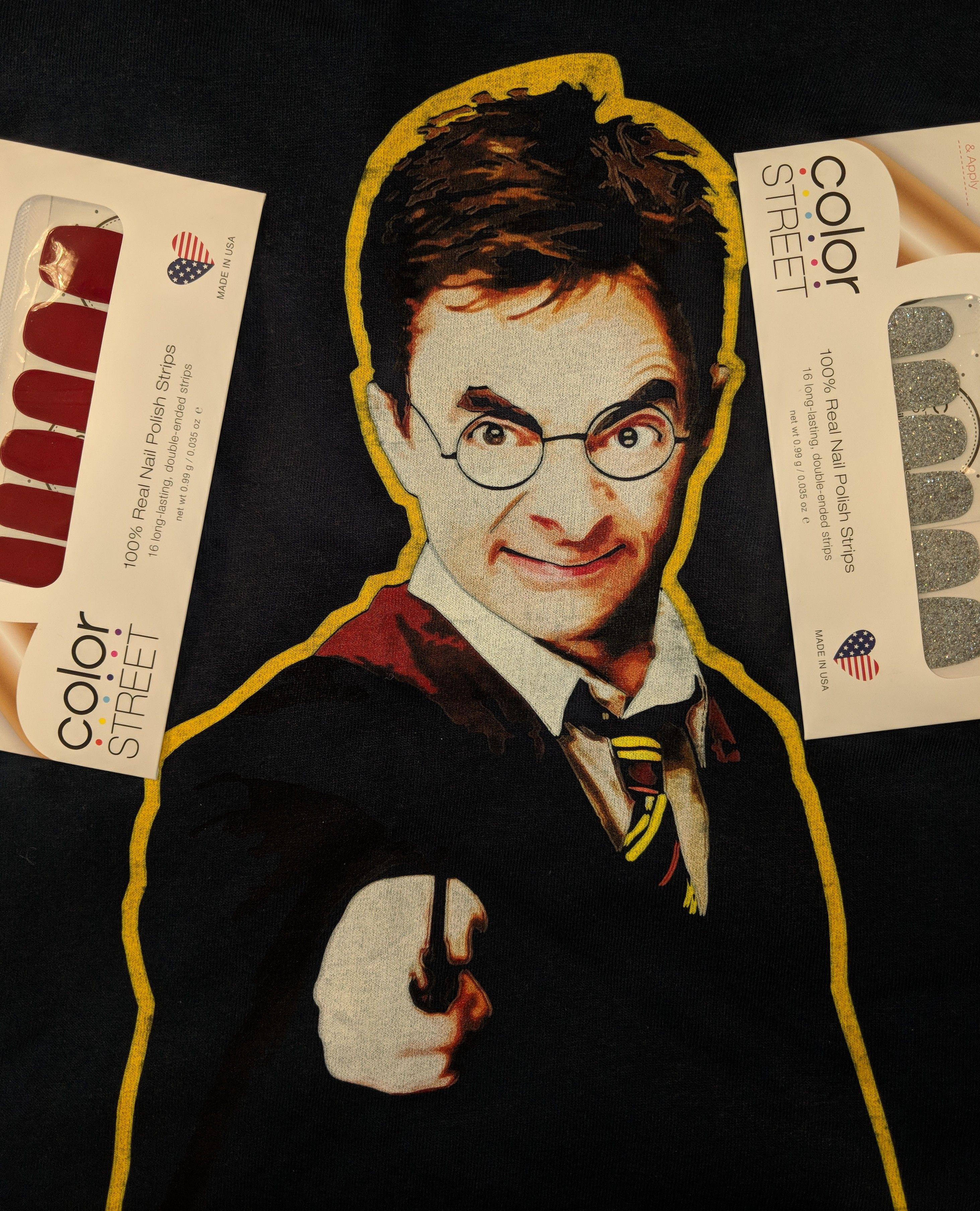 Color street nail strip to match harry potter mr bean