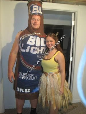 Coolest homemade bud light and golden wheat couple costume bud homemade bud light and golden wheat couple costume we have watched the bud light and mozeypictures Choice Image