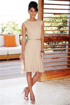 3 Bloggers Clothing Pinterest And Fashion New Beige Dress Wedding Guest 83