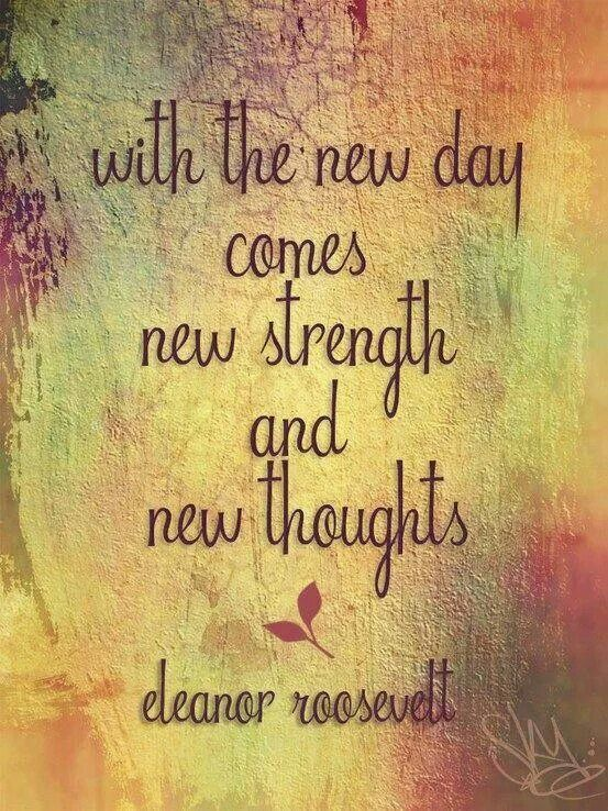 With the new day...