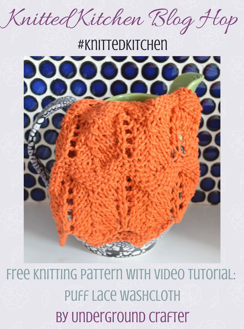 Knitting pattern: Puff Lace Washcloth | Knitting patterns, Yarns and ...