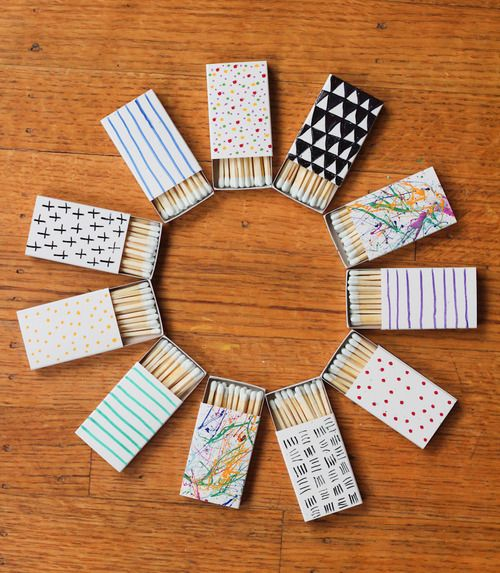 Custom Matchbox favors {52 Weeks Project} #papercrafting #craft