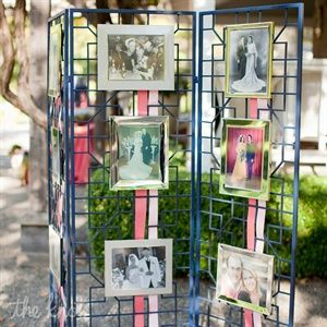 I think displaying wedding photos of grandparents and parents really adds a sentimental touch to the night and is a great way to honor the past.