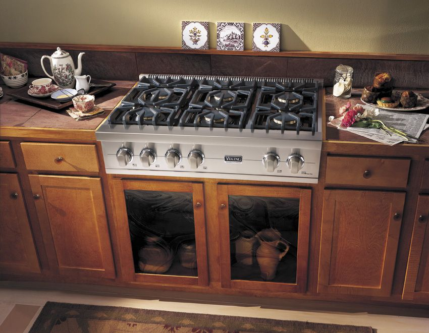 Kitchenaid 36 Inch 6 Burner Gas Rangetop Commercial Style Google Search