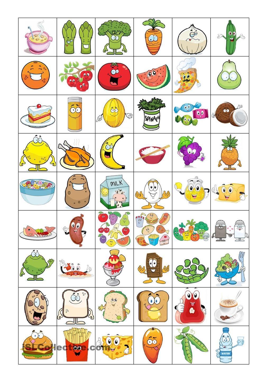 food bingo concentration game nutrition arbeitsbl tter obst und gem se obst. Black Bedroom Furniture Sets. Home Design Ideas