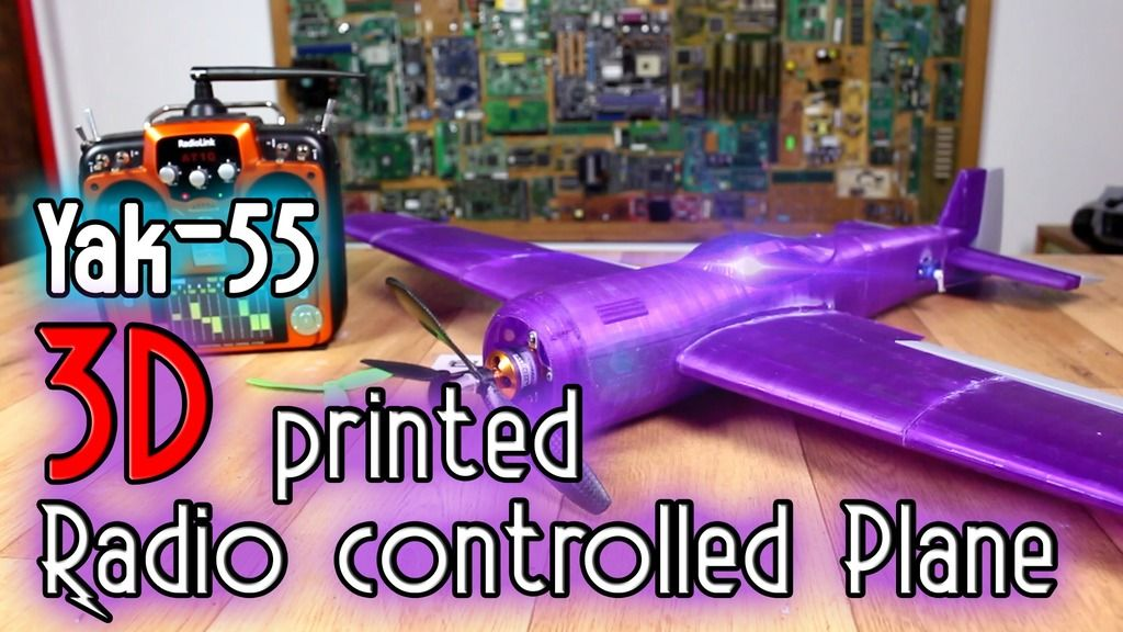 3D printed plane Yak55 free files by ELECTRONOOBS