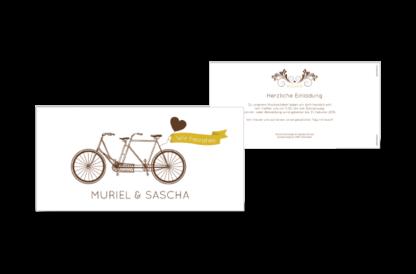Einladungskarte Muriel-Sascha