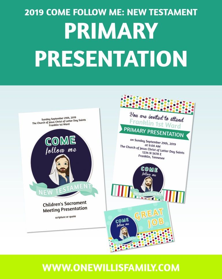 Lds Primary Sharing Time 2020 May Lesson Ideas 2019 Primary Presentation Program Cover, invitation and good job
