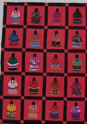 Striking Native American Woman Costumes INDIAN Quilt Pattern Custom Native American Quilt Patterns