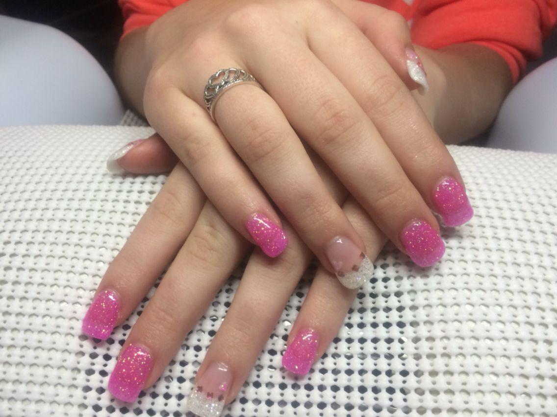 Sparkling pink beauty Nails By Nance  At nance.j.nails@gmail.com