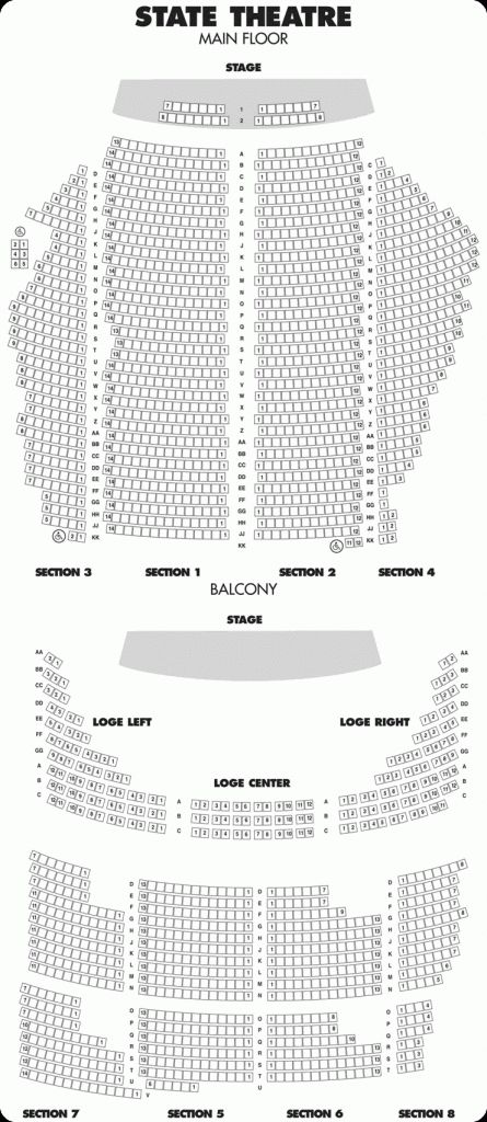 state theatre seating map world maps within state theatre