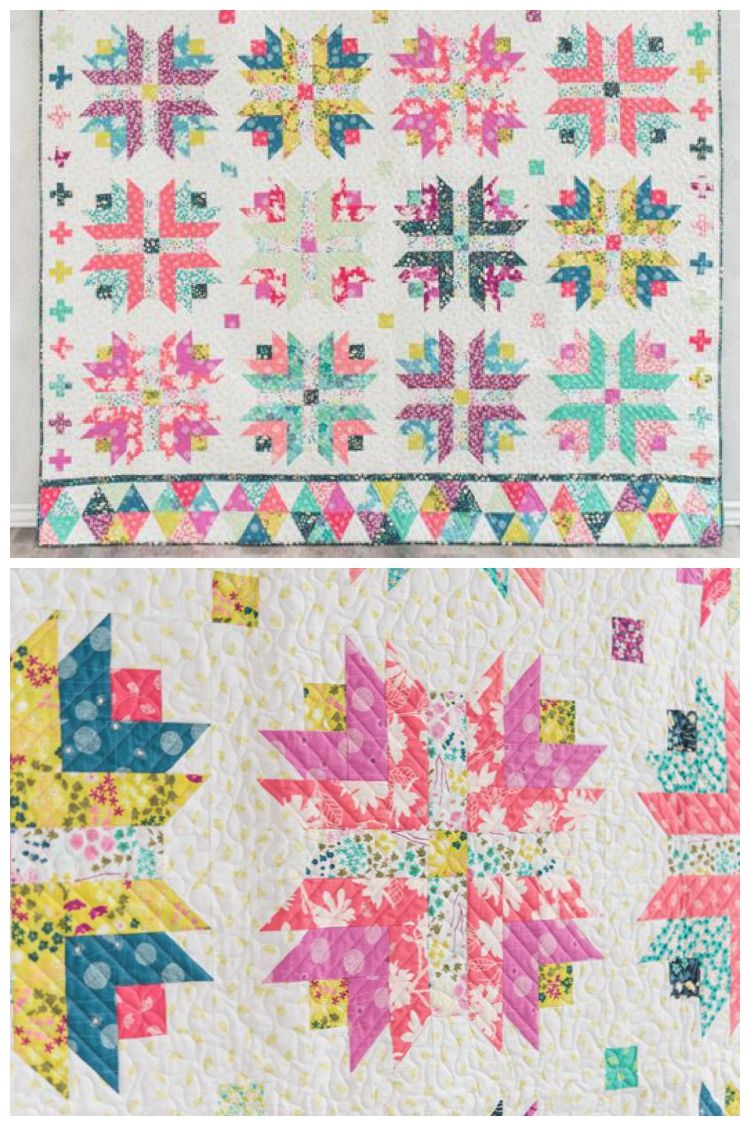 Honey Blossom Quilt Kit By Craftsy. Modern Twist To The Traditional Log  Cabin Block.