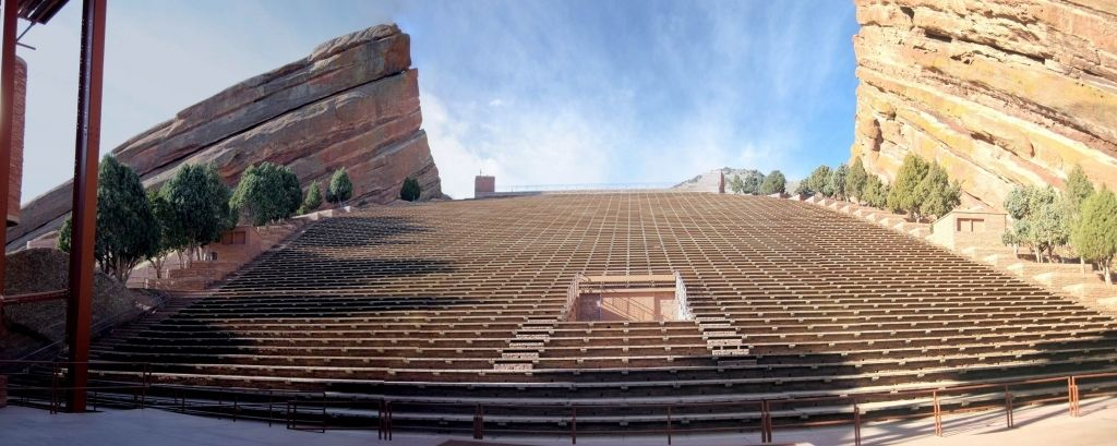 Red Rocks Interactive Seating Chart