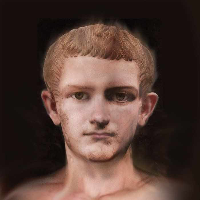 Taken from portrait busts, this is the facial reconstruction of