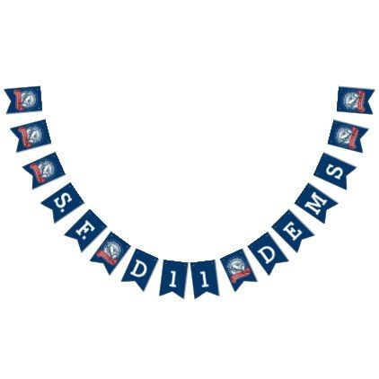 D11 Democratic Club Bunting Bunting Flags Zazzle Com Happy Birthday Bunting Birthday Bunting Happy Birthday Blue