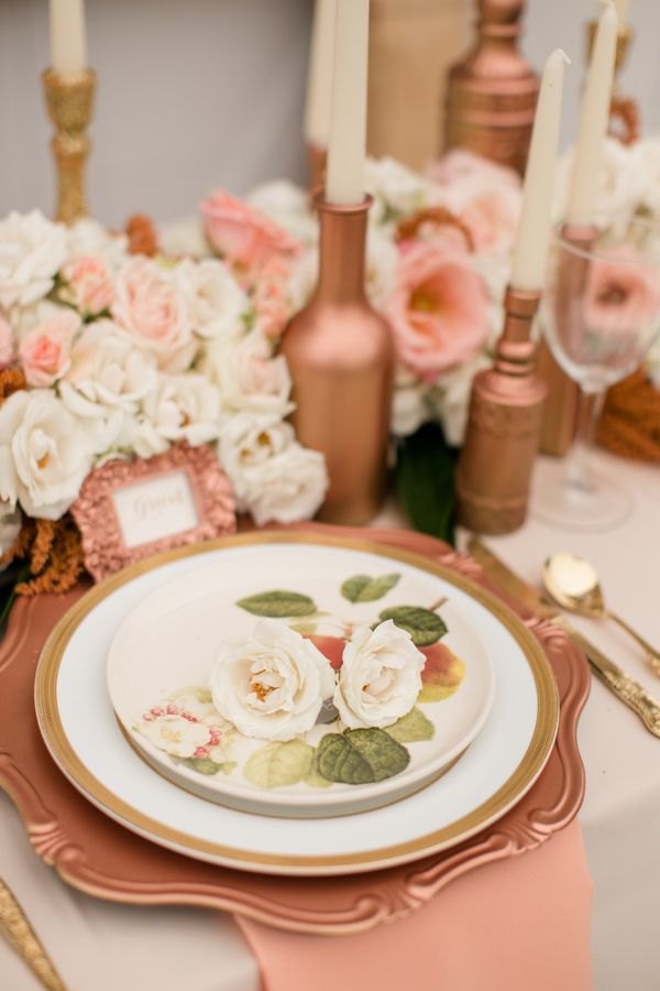 Gorgeous rose gold table setting! #rosegold #inspiration ...