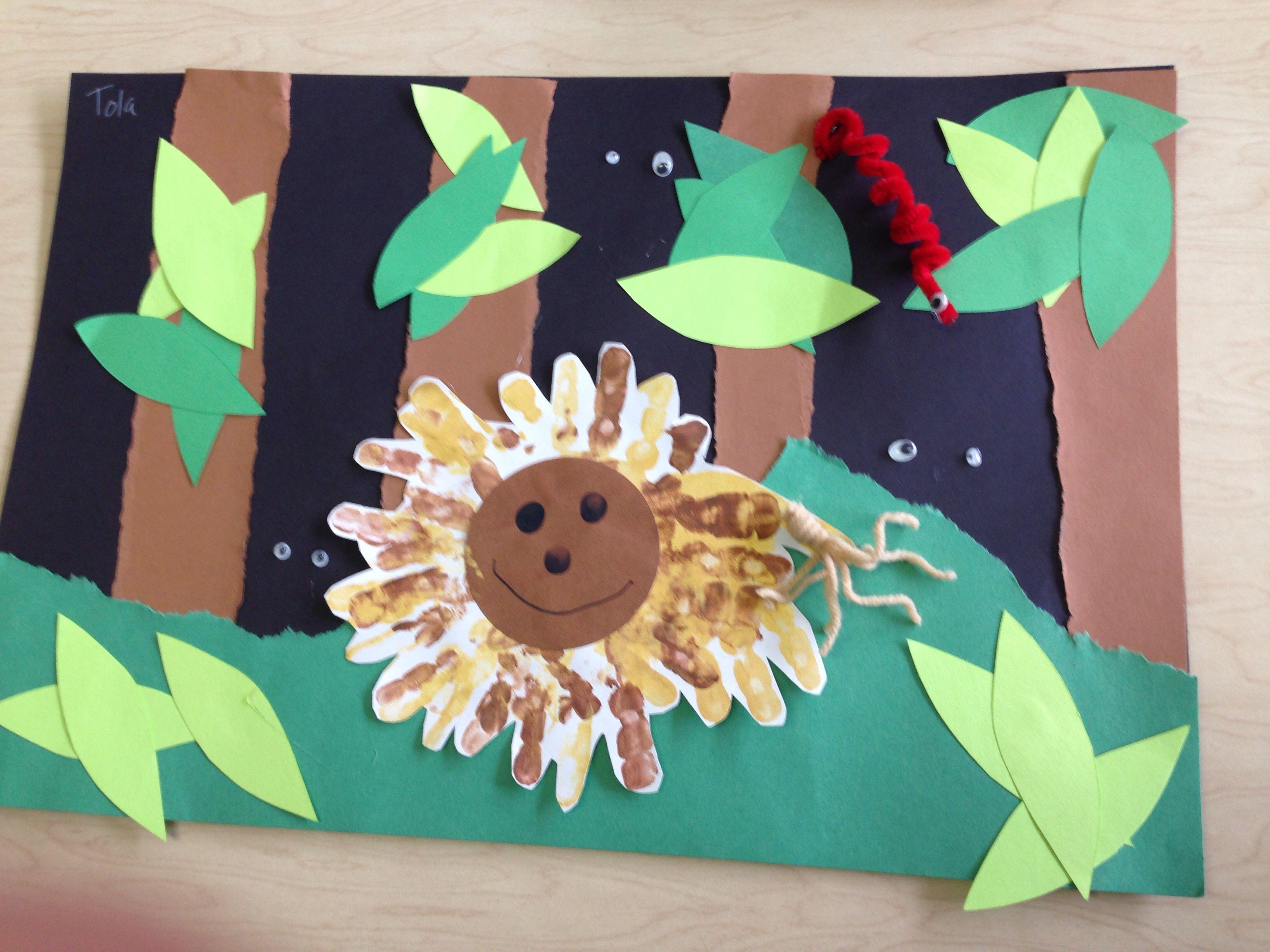 Jungle Lion Handprint Craft Preschool