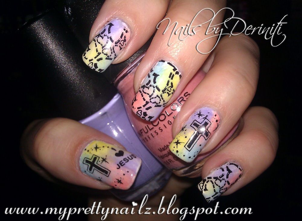 My Pretty Nailz: Easter Nail Art Stamping Design and Video Tutorial ...