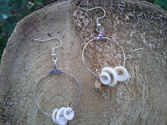 Hawaiian puka shell earrings by nonowea on Etsy