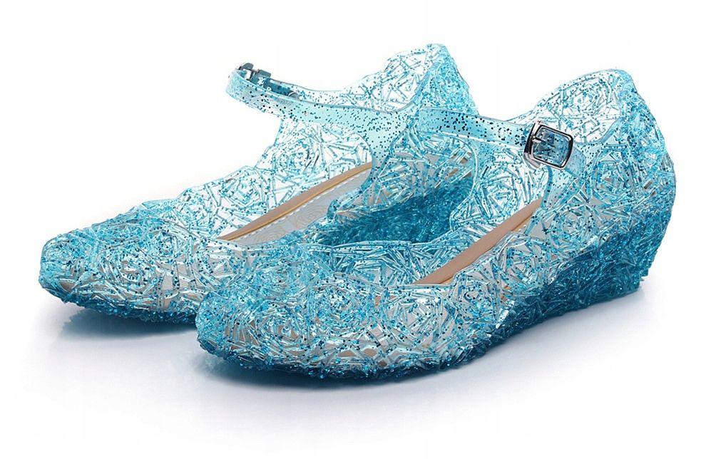 Buty Lodowe Baletki Stroj Elza Frozen Elsa Roz 25 8819946730 Oficjalne Archiwum Allegro Toddler Sandals Girl Glitter Shoes Strap Heels