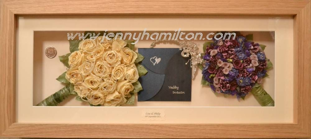 Beautiful hand tied brides bouquet pf avalanche roses with wedding invitation and hair jewelry.  Brides maids bouquet beside it.  Wonderful keepsake.  www.jennyhamilton.com Sligo Ireland