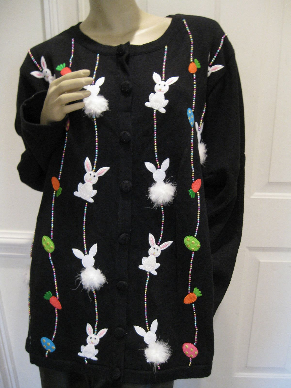 Quacker Factory Ugly Easter Sweater on eBay $59 | Ugly
