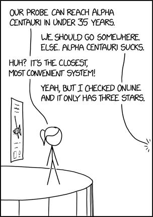 xkcd: Alpha Centauri | Stuff Enginerds Like | Science jokes