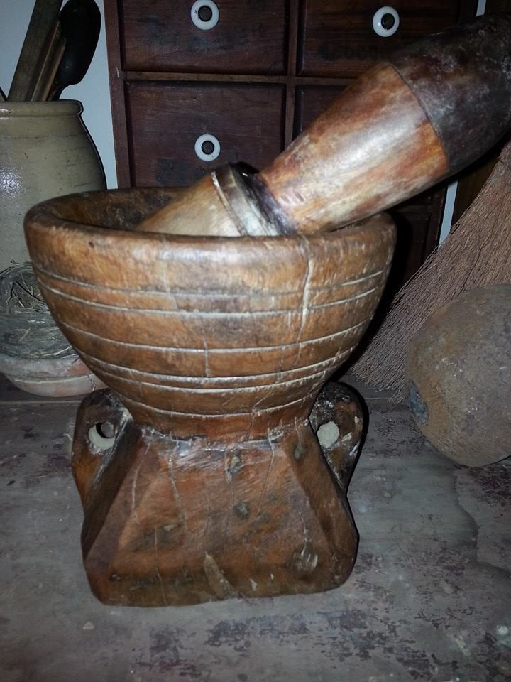 Old Mortar & Pestle Freckle Farm Antiques Kitchen Tools
